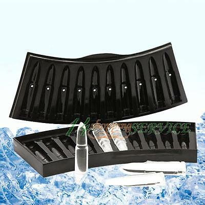 Ice-tray Bullet Shape cube Frozen Kitchen Frozen Ice Pudding Jelly  Party Mould