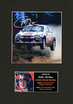 Colin McRae Rally motorsport Quality signed Mounted Pre-Print 12 x 8.2 A4