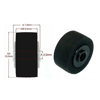 Andruckrolle BRTP-5 Ø 13 x 7,9 x 2mm pinch roller for Kassette Tape Deck