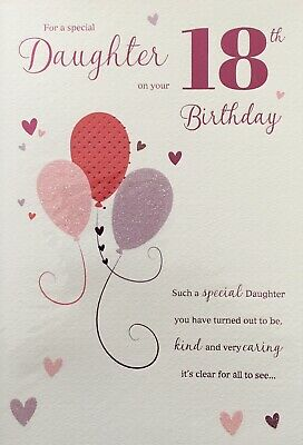 For A Special Daughter Happy 18th Birthday Card 289 Picclick Uk