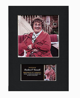 Brendan O' Carroll Mrs. Browns Boys Quality signed Mounted Pre-Print 12 x 8.2 A4