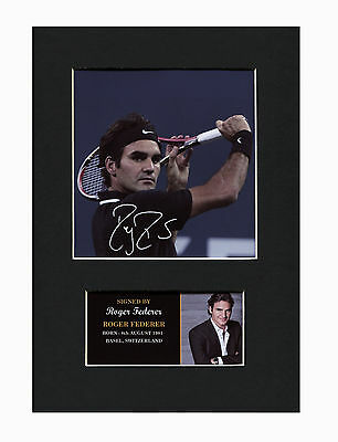 Roger Federer Tennis Quality signed Mounted Pre-Print 12 x 8.2 A4 brand new
