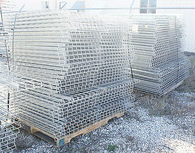 "Used 42"" x 58"" Warehouse Pallet Metal Wire Rack Deck Decking Waterfall Style"