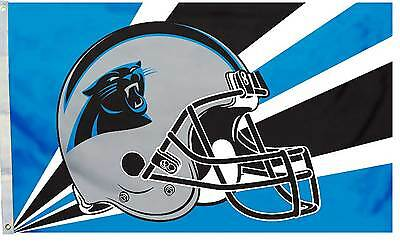 CAROLINA PANTHERS 3' x 5' OFFICIAL NFL Premium Flag W/Grommets Banner 1-SIDED