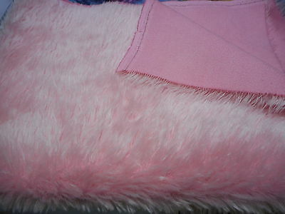 NEW 25mm medium dense  'PETAL PINK'  hand dyed  mohair
