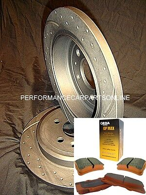 DRILLED SLOTTED & PADS Commodore VT VU VX VY VZ V6 V8 SS REAR Disc Brake Rotors