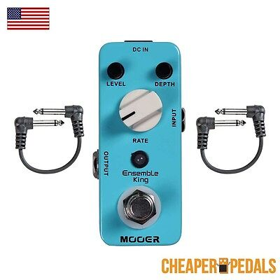 NEW MOOER ENSEMBLE KING Analog Chorus Pedal + 2 FREE Patch Cables FREE Shipping!