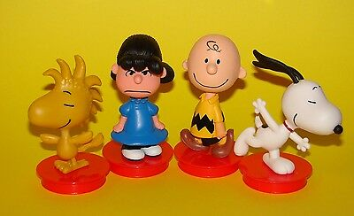 The Peanuts Movie CUP TOPPER FIGURES + CUPS (SET OF 4)