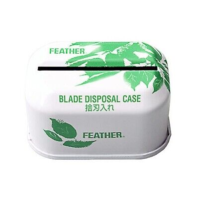 Feather Double Edge Safety Razor Blade Disposal Case Bank Unit
