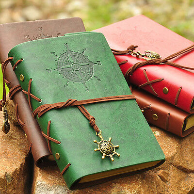 Faux Leather Journal Travel Notepad Notebook Blank Diary Memo Portable Retro