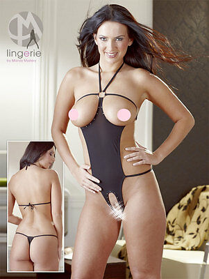 Completino Intimo Donna Sexy Mandy Mystery Black Opener Body Lingerie S-L