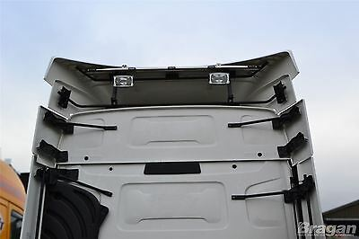 Renault T Range Stainless Steel Rear Roof Light Bar + LED Lights x5 Truck Lorry
