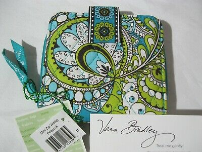 Vera Bradley PEACOCK Mini ZIP WALLET Coin Purse for PURSE Tote BACKPACK Bag  NWT