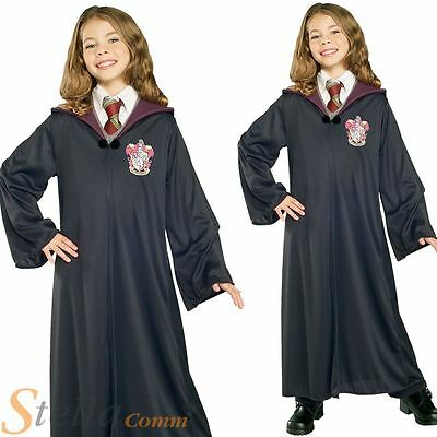Girls Hermione Granger Costume Harry Potter Robe Fancy Dress Child Outfit