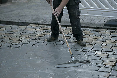 Paving Squeegee with wooden handle - Spread grout mortar slurry into joints.