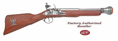 Authentic 18TH Century Boarding Blunderbuss Pirate Flintlock Gray Non-Firing Gun