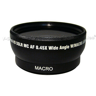52mm 0.45X  Super Wide Angle Lens for Nikon 18-55mm 55-200mm 50mm 1.4 50mm 1.8