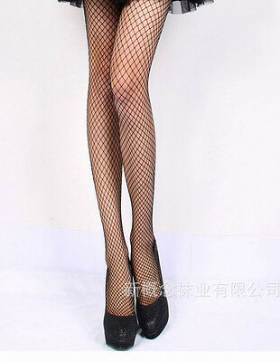 Black Lace Small Grids Pattern Fishnet Tights