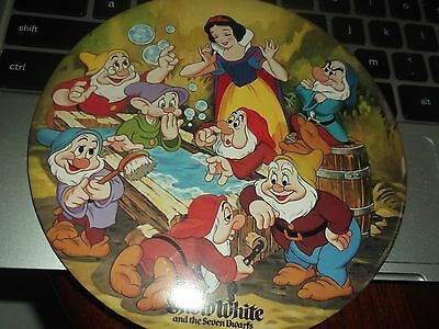 Disney 6 inch Rare pin backed badge of Snow White & seven dwarfs Vintage Large !
