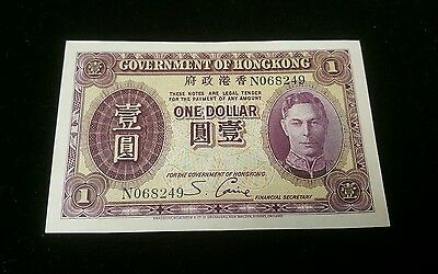1936 Government of Hong Kong One Dollar UNC