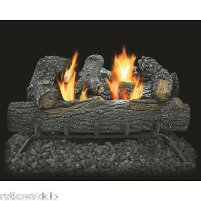 30,000-BTU KozyWorld Dual Fuel Black Forest Vent-Free Gas Logs