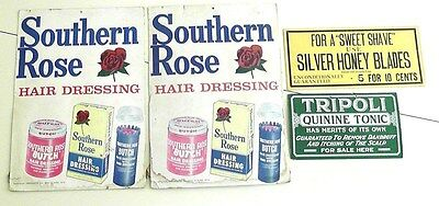 Lot of 4 Vintage Barber/Beauty Shop Signs Southern Rose-Hair Dressing's