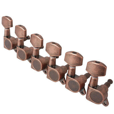 Electric Acoustic Guitar Machine Head String Tuning Pegs Tuners Red Bronze  6R