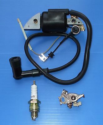 Honda G150 G200 G300 Ignition Coil Condensor Points Spark Plug Boot
