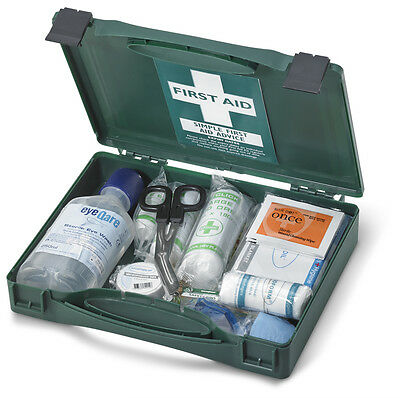 Click Travel First Aid Kit with Plastic Case BS8599 Compliant  Eyewash CFABST