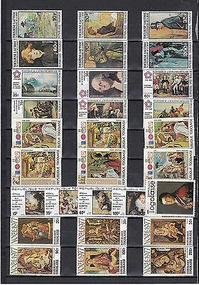 ART PAINTINGS Art Thematic Stamp COLLECTION Unmounted Mint TOGOLAISE Ref:TH484