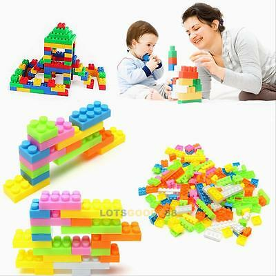 144pc Plastic Building Blocks Bricks Children Kids  Educational Toddler Toy Gift