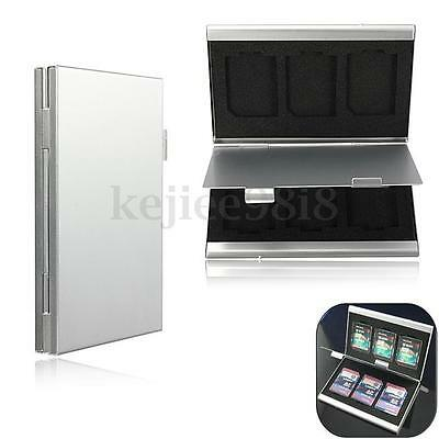 6in1 Aluminum Storage Box SD/SDHC/SDXC/MMC Memory Card Case Holder Protector UK