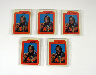 Lot of (5) 1983 Topps The A-Team Sticker Set (12) Nm/Mt