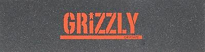 """Grizzly Stamp Print Professional Skateboard Grip Tape Tape Sheet 9"""" x 33"""" New"""