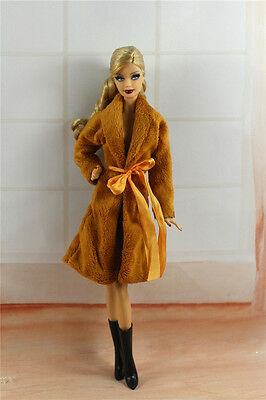 Lovely Fashion Coat Clothes/Outfit+Boots For Barbie Doll C008