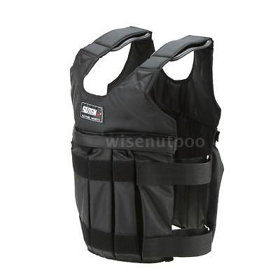 50kg Invisible Waistcoat Adjustable Weighted Workout Weight Vest Black A9T3