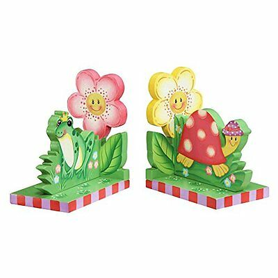 Fantasy Fields by Teamson Magic Garden Pink Chilldrens Wooden Kids Bookends Gift
