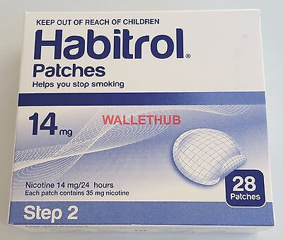STEP 2 Habitrol Transdermal Nicotine Patches (14 mg, 1 box, 28 patches) NEW