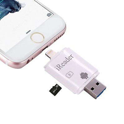IReader TF SD lettore schede USB Lightning iPhone 5 6 iPad Air iPod Lettore di s