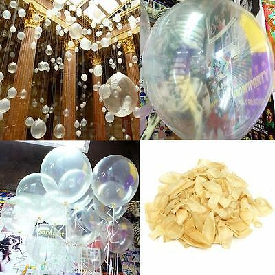 100Pcs 12'' inch Clear Latex Balloons Party Air Helium Wedding Birthday Decor