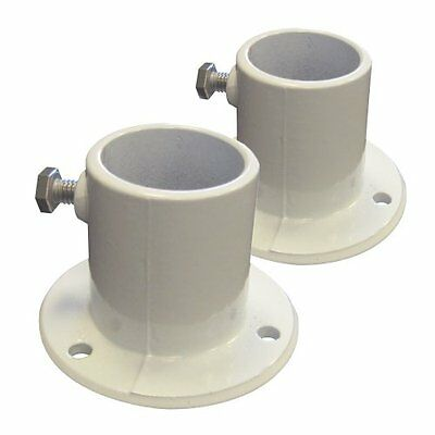 Blue Wave NE1228PR Aluminum Deck Flanges For Above Ground Pool Ladder, Pair Yar