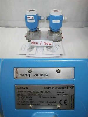 ENDRESS + HAUSER Deltabar S pmd75-abj7bb1daaa Differential Pressure
