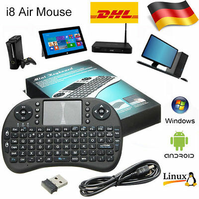 2.4GHz Funk Mini Tastatur Wireless Keyboard Air Mouse Touchpad für TV Android SV