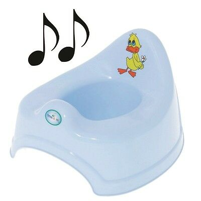 Easy Clean Musical Potty Training Toilet Kids Toddler Animal Duck Gift - Blue