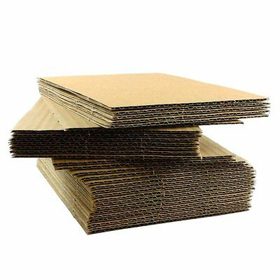 "Corrugated Cardboard Pads Inserts 8.5x11"" 10 30 50 75 100 125 or 200 1/16"" Thick"