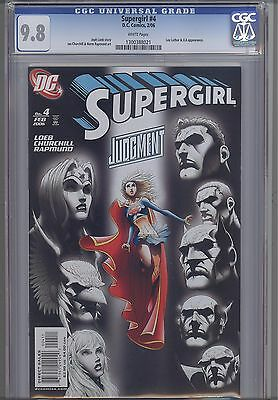 Supergirl #4  CGC 9.8 2006 DC Comic: Churchill and Rapmund art