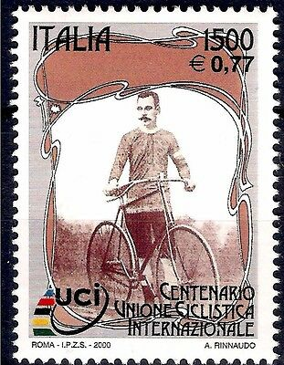Italy 2000 Unione International Cycling Bikes Bicycle Racing Sports 1v MNH