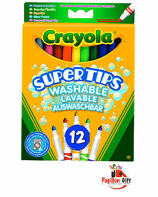 Crayola Supertips Washable - Pack of 12  **FREE DELIVERY**