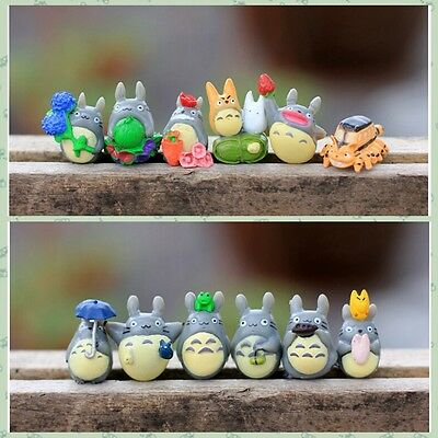 New 12pcs Hayao Miyazaki Japan Cartoon Lovely My Neighbor Totoro Figures Toy