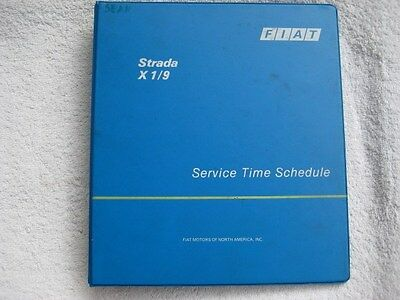 Fiat strada X 1/9 service time schedule three ring BINDER ONLY